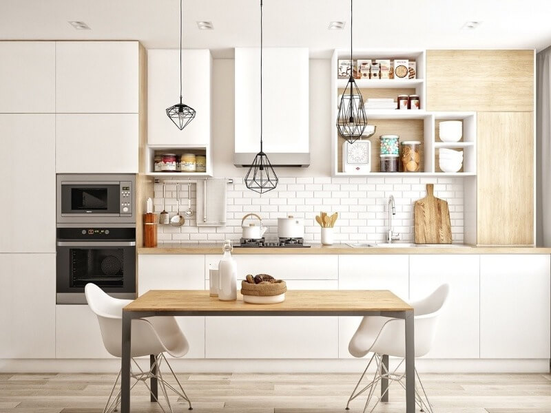 дизайн кухни скандинавский стиль