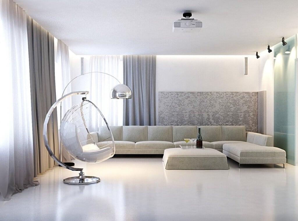 дизайн штор в стилі мінімалізм