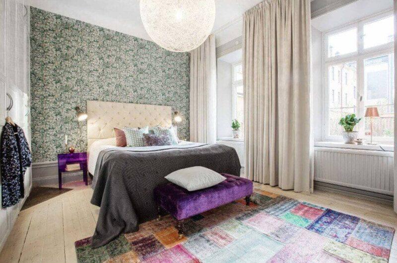 дизайн стін в спальні