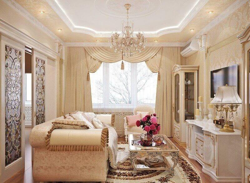 вітальня в класичному стилі