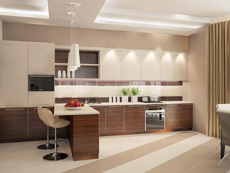 красива кухня в пастельних тонах