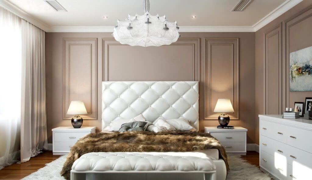 люстра модна спальня