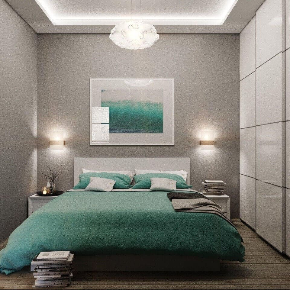 маленька модна спальня