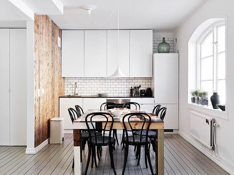 модная кухня в скандинавском стиле