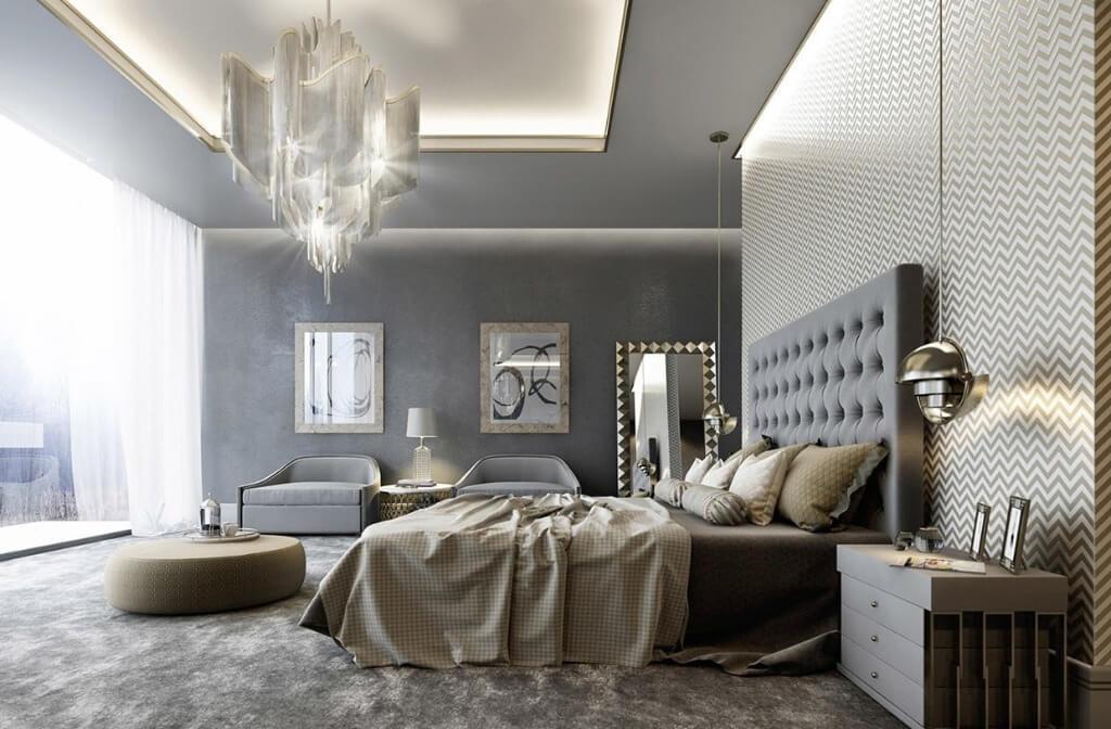 модная люстра спальня