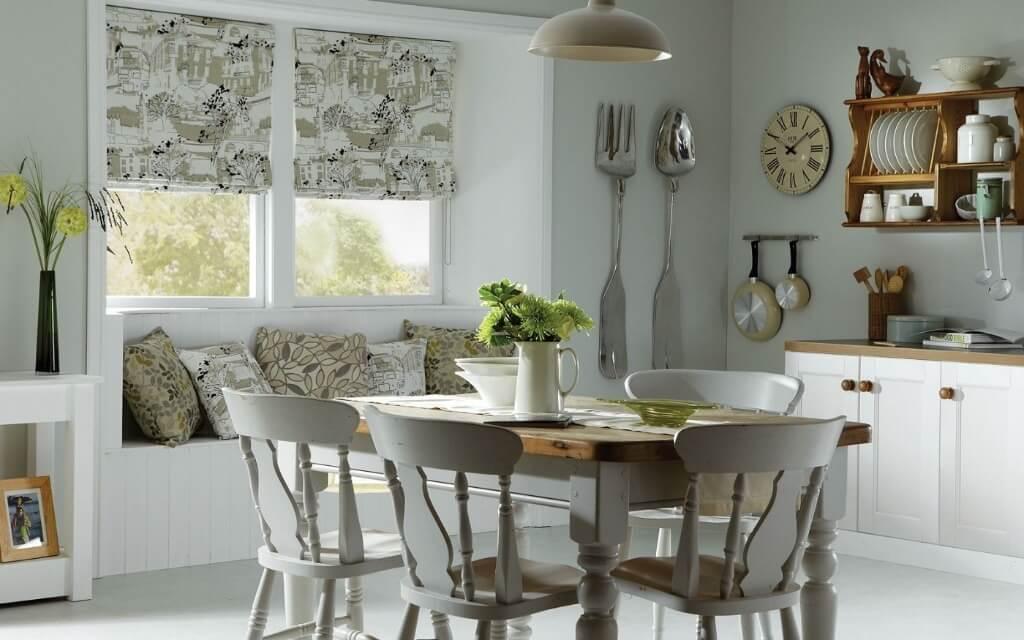 модные шторы на кухне