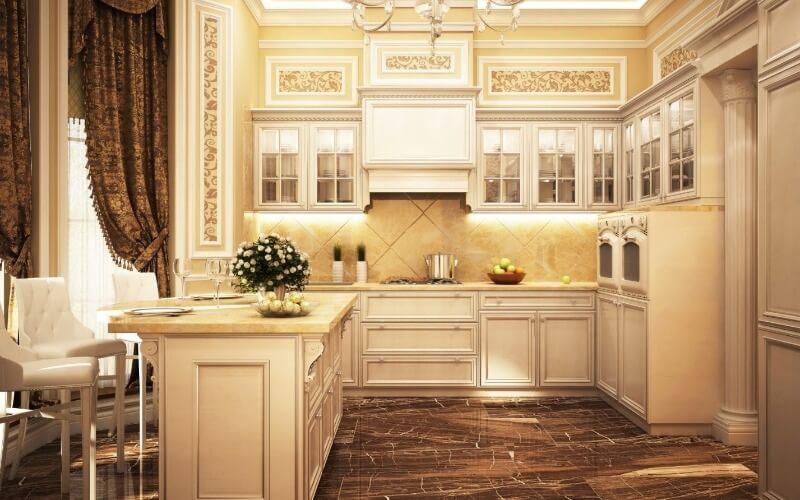 оформление кухни в классическом дизайне