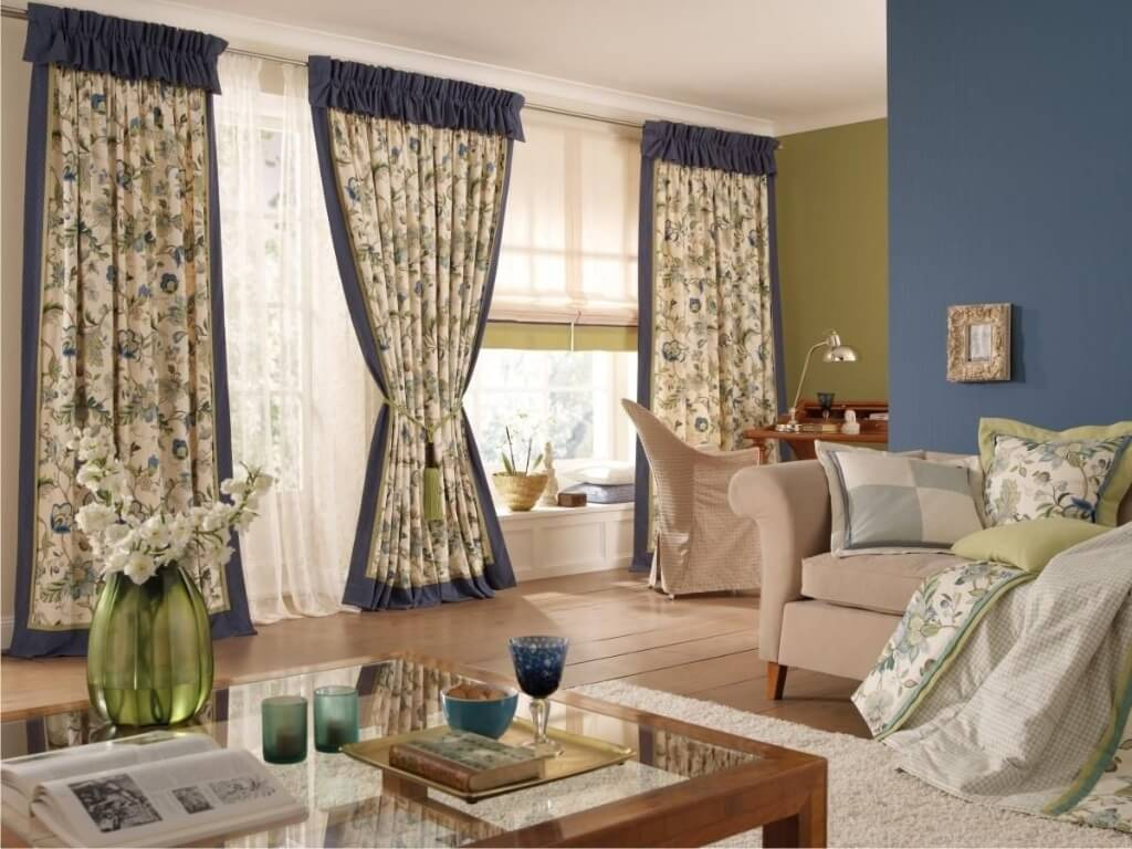 модные шторы в стиле прованс