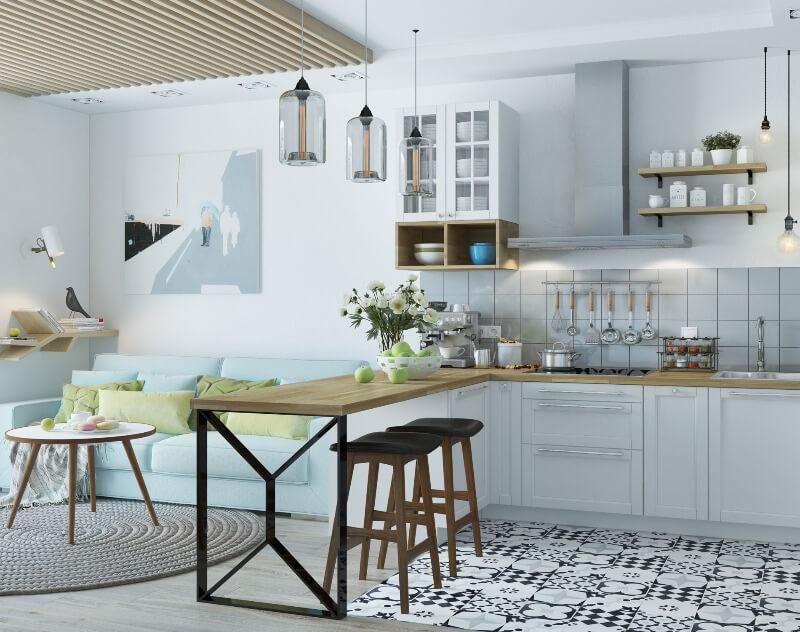 скандинавський стиль кухня