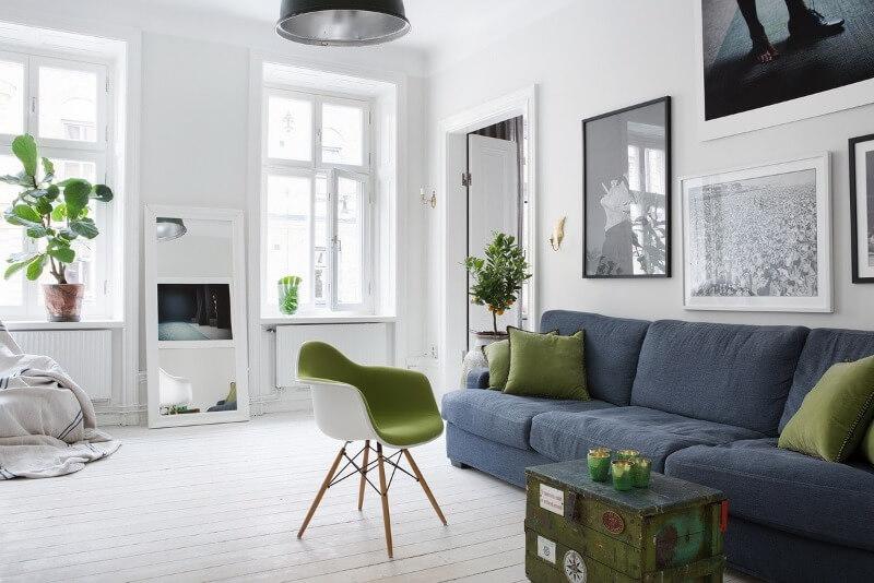 стильная гостиная в скандинавском стиле