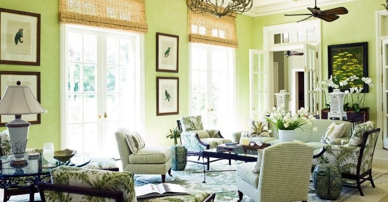яскравий дизайн вітальні