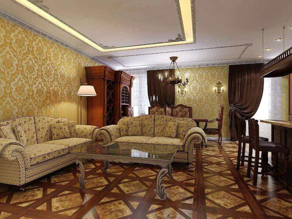 класичні шпалери в зал