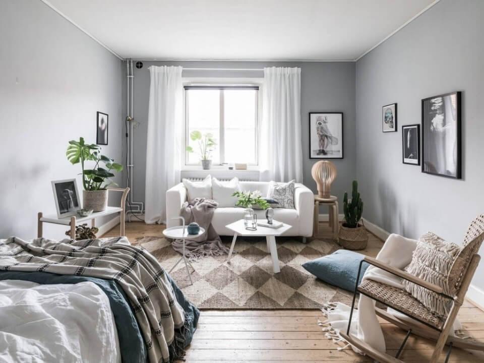 шпалери в зал в скандинавському стилі