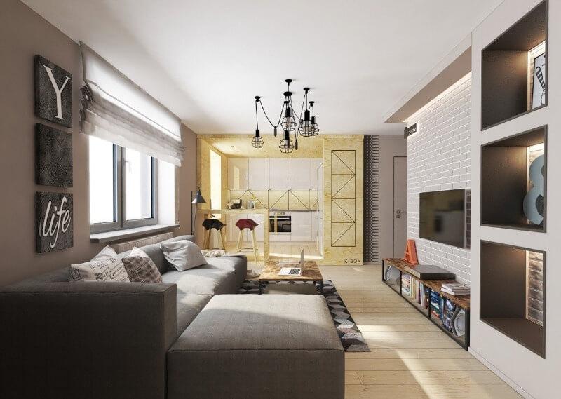 дизайн квартири студії