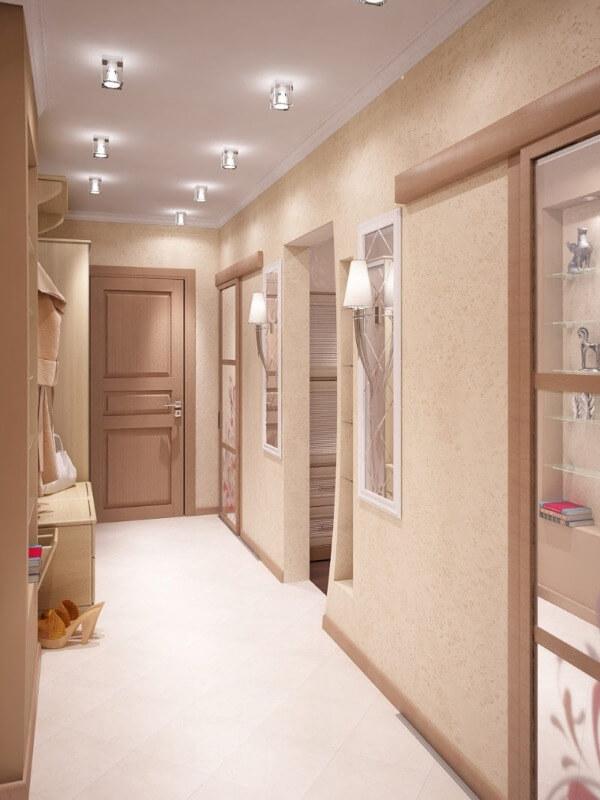 дизайн стелі в коридорі