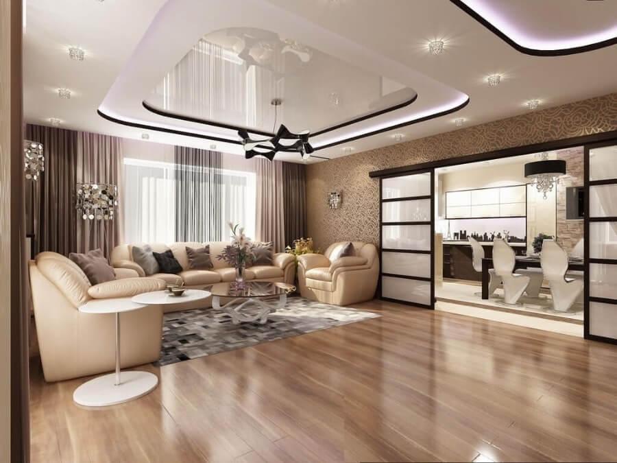 дизайн стелі в вітальні