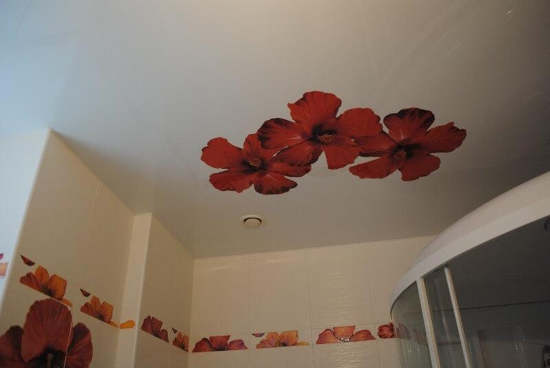 дизайн натяжных тканевых потолков