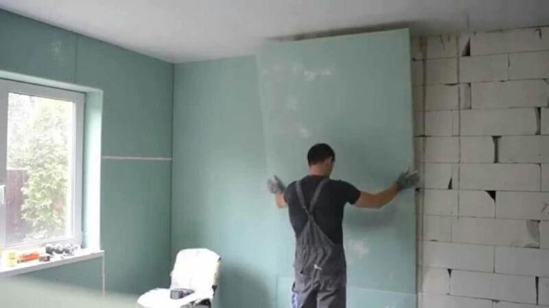 гипсокартон отделка стен