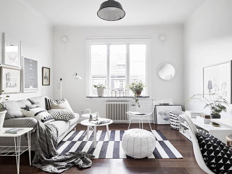 однокімнатна квартира в скандинавському стилі