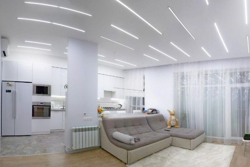 варианты лед освещения квартиры