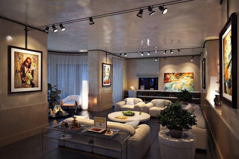 освітлення однокімнатної квартири