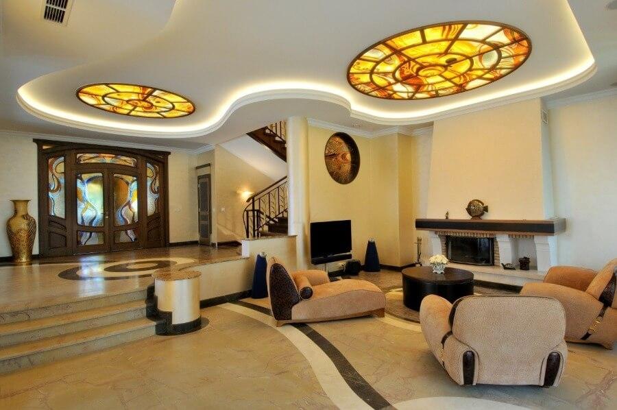 стильный дизайн потолка