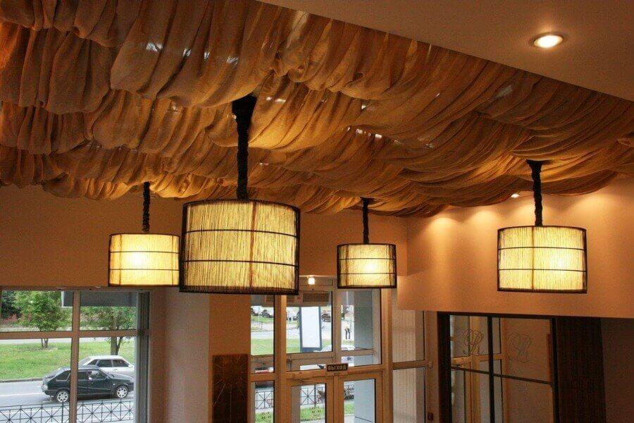 текстильный потолок