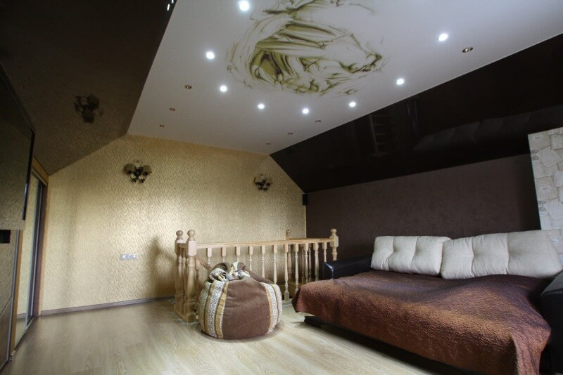 дизайн тканевого потолка
