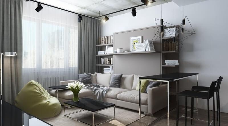 зонування однокімнатної квартири