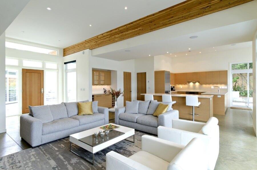зонирование однокомнатной квартиры при помощи потолков