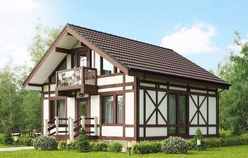 красивий будинок в стилі фахверк