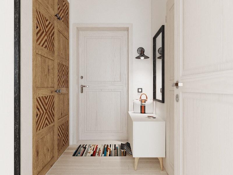 дизайн коридора в скандинавском стиле
