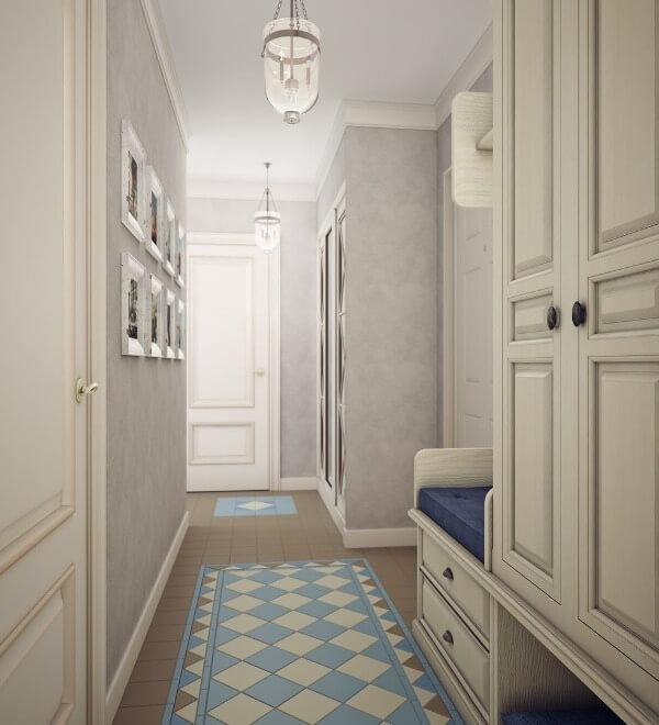 интерьер коридора в стиле прованс