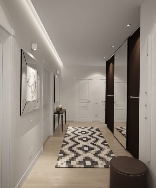 серый коридор интерьер