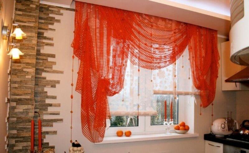 оригинальные шторы из сетки