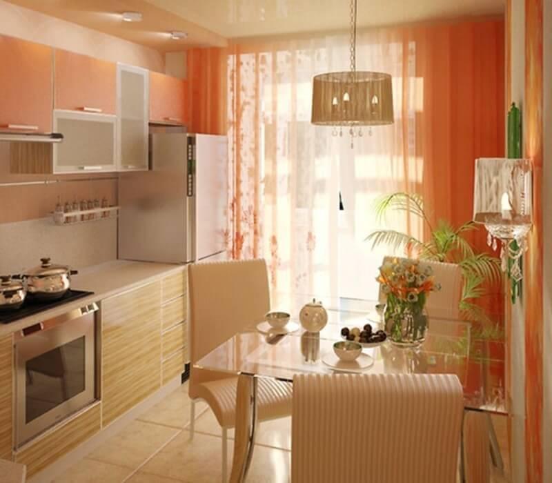 шторы из вуали на кухню