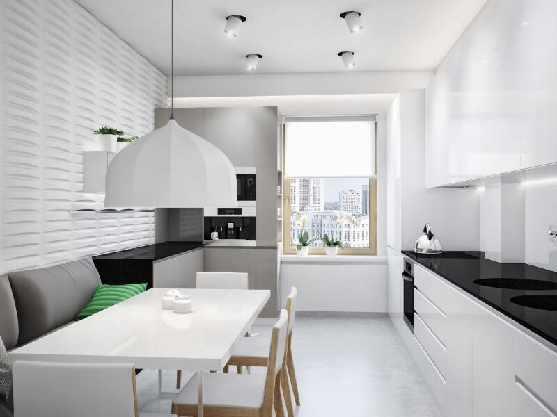 шторы минимализм кухня
