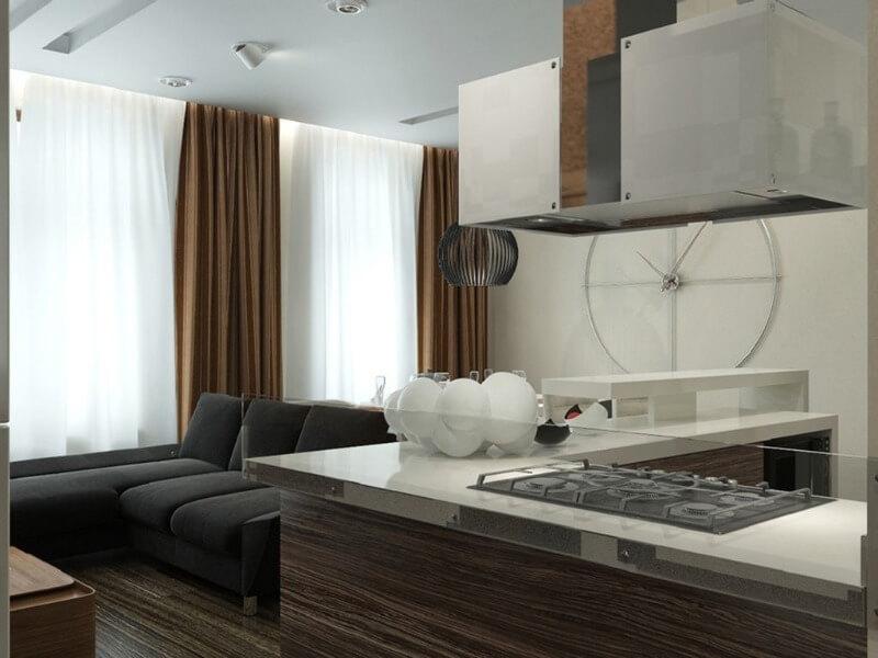 шторы на кухню в стиле хай тек