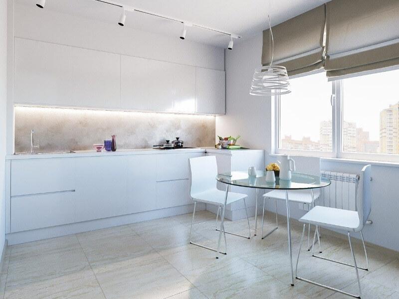 шторы на кухню в стиле минимализм