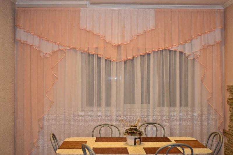 шторы на кухню вуаль
