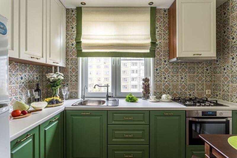 шторы римские для кухни