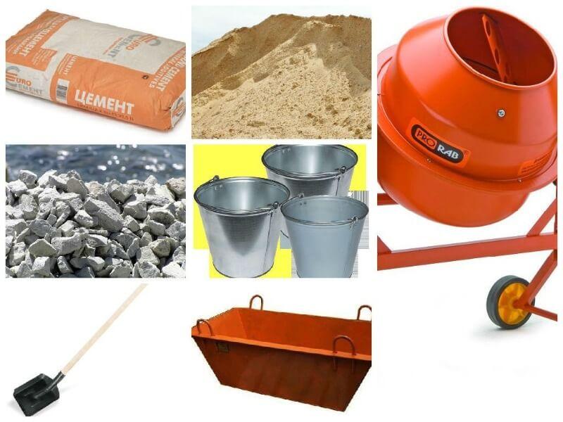 інструменти для приготування бетонної суміші