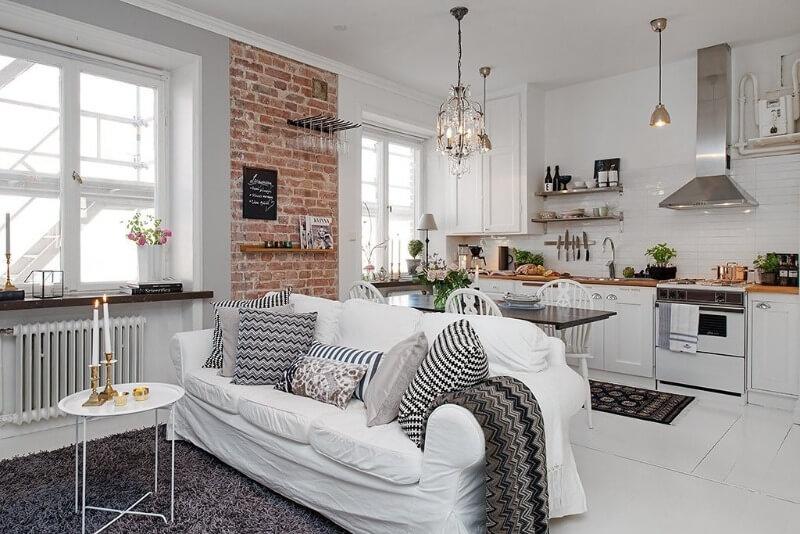поєднання скандинавського і класичного стилю на кухні