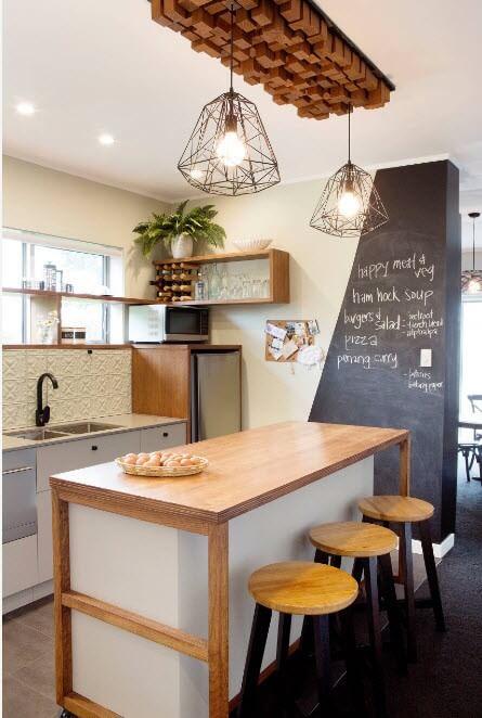 освітлення на кухні в скандинавському стилі