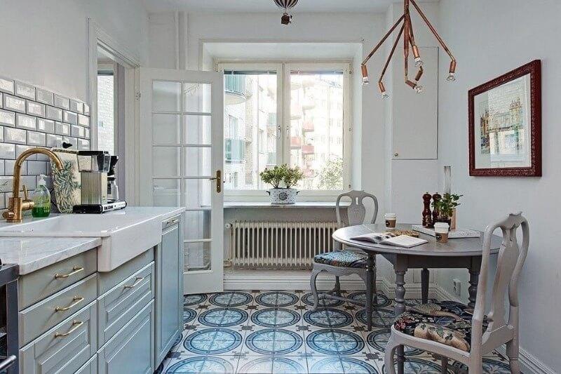 обробка підлоги в скандинавської кухні