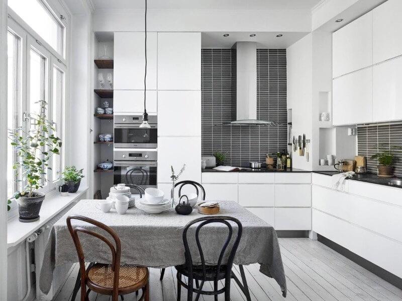 текстиль на скандинавской кухне