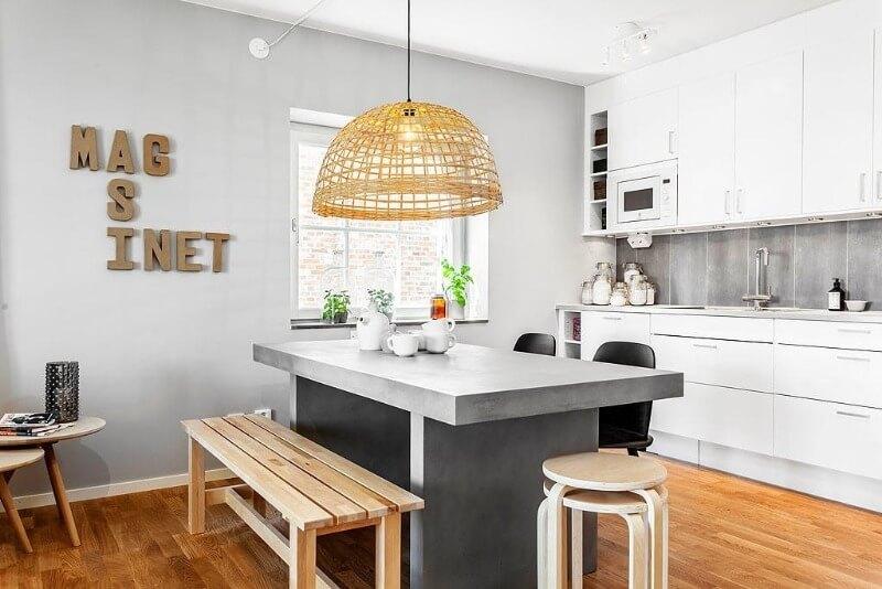 варіанти оздоблення стін на кухні сканді