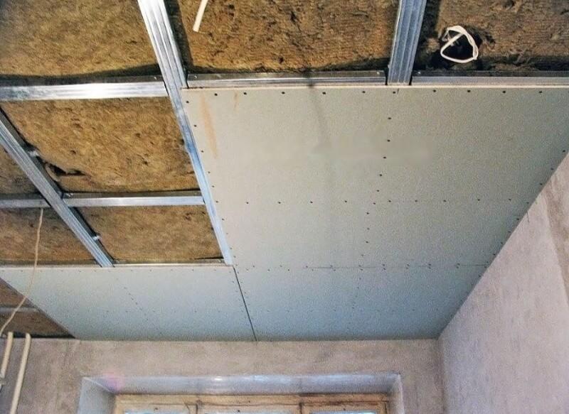 последовательность ремонта потолок