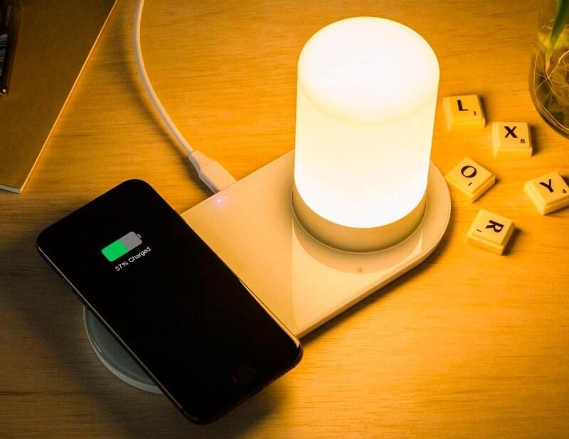 лампа с зарядкой как работает