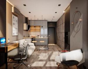 квартира лофт 43 кв.м